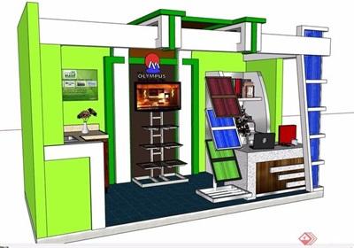 现代详细的售卖展厅素材设计su模型