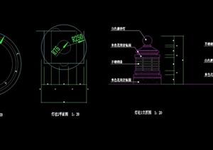 现代景观灯柱完整素材cad施工图