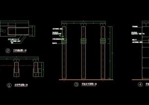 现代详细景观灯柱素材设计cad施工图