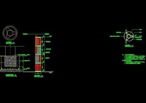 现代独特景观灯柱完整设计cad施工图