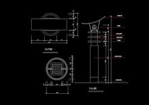 详细的完整景观灯柱素材cad施工图