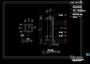 独特详细的景观灯柱设计cad施工图