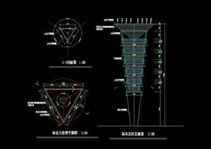 现代详细景观灯柱完整设计cad施工图
