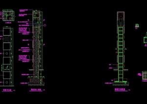 现代详细景观灯柱完整详细设计cad施工图