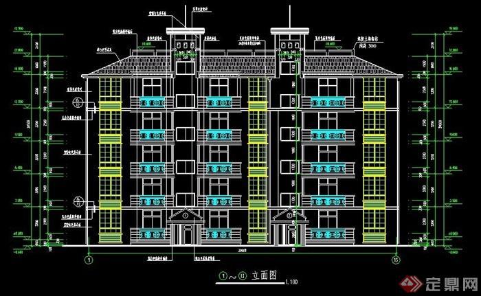 五层公寓住宅楼建筑设计图纸图片