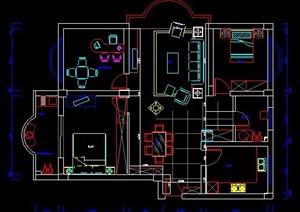 三居室室內家裝設計圖紙