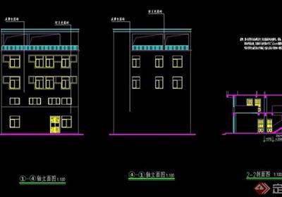 四层私人别墅详细设计cad施工图