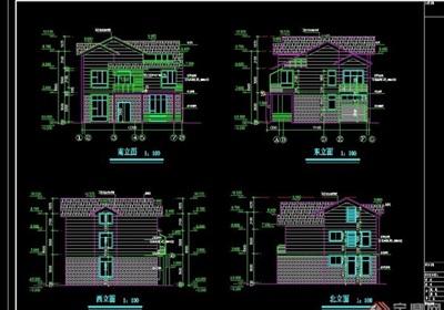 上海某别墅建筑cad施工图