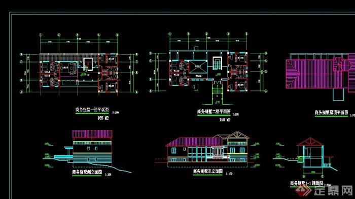 商務別墅設計cad方案圖
