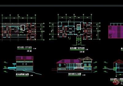 商务别墅设计cad方案图