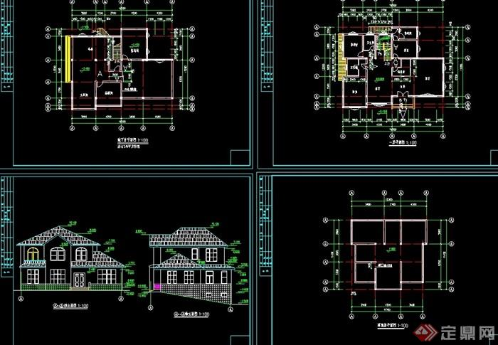 歐式山地小別墅設計cad方案圖
