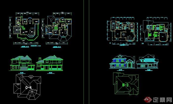三套歐式別墅cad方案
