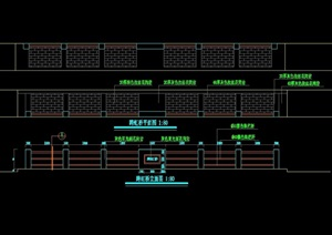 現代園橋詳細的設計cad施工圖