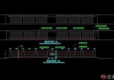 现代园桥详细的设计cad施工图