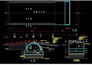 中式詳細的拱形園橋設計cad施工圖