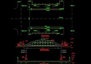 詳細景觀園橋設計cad施工圖