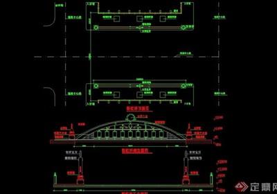 详细景观园桥设计cad施工图