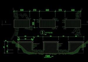 汀步橋設計cad方案