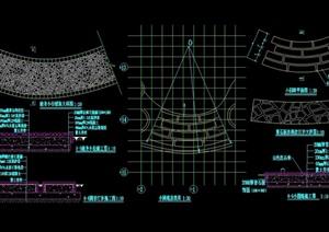 詳細的園路詳細設計cad施工圖