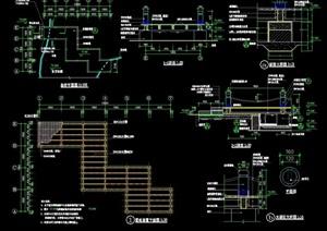 詳細的整體完整過河橋設計cad施工圖