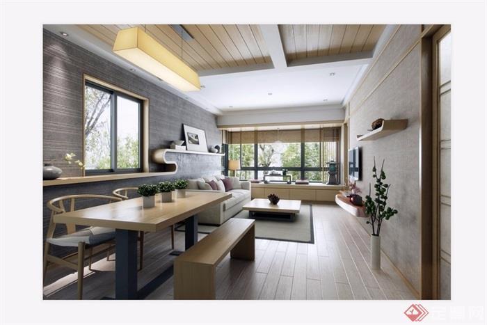 現代客廳詳細的整體設計3d模型及效果圖