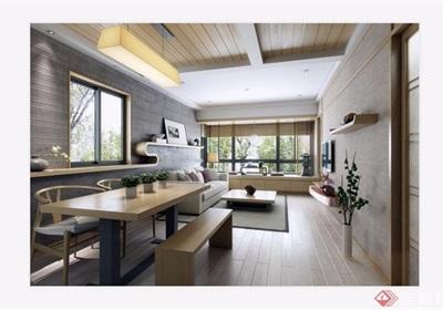 现代客厅详细的整体设计3d模型及效果图