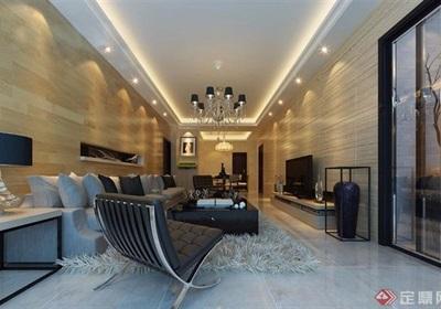 現代整體客廳裝飾設計3d模型及效果圖