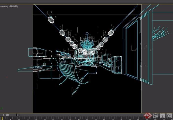 现代整体客厅装饰设计3d模型及效果图
