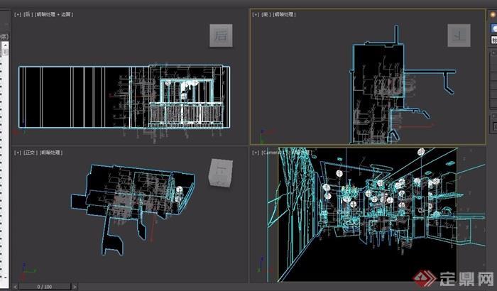 客廳現代詳細設計3d模型及效果圖