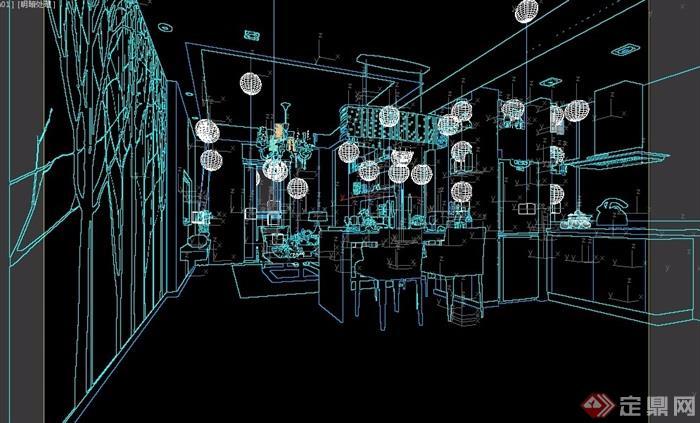 客厅现代详细设计3d模型及效果图