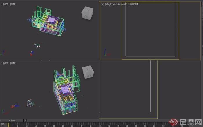 某詳細的別墅客廳裝飾設計3d模型及效果圖