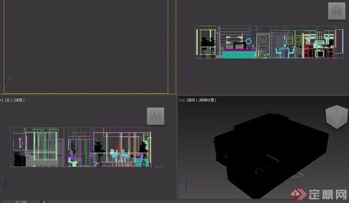 客厅现代详细完整设计3d模型及效果图