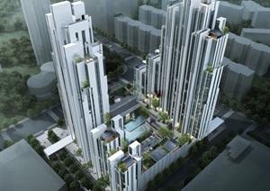 某公寓,現代主義風格,30層SU(草圖大師)精細模型
