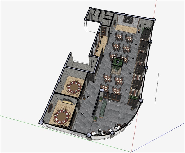 仿古中式风情餐厅内部空间设计(1)
