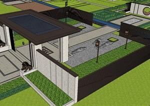 景观门楼模型设计师必备成品资料