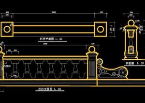欧式风格栏杆设计cad施工图
