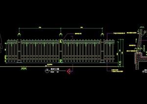 现代详细栏杆素材cad施工图
