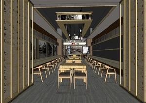 餐厅室内设计SU(草图大师)精细霸气模型酷