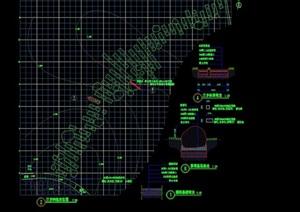 详细的园林景观汀步设计cad施工图