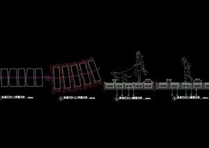 详细的完整汀步素材cad施工图