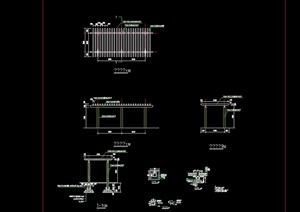 双排花架素材设计cad方案