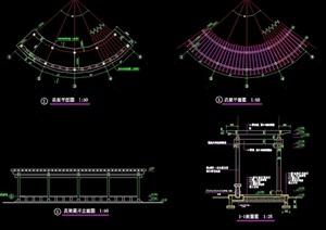 弧型花架想完整设计cad施工图