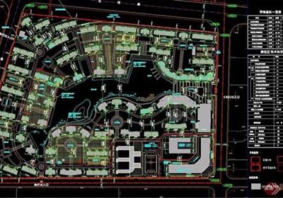 小區規劃完整詳細規劃設計cad方案