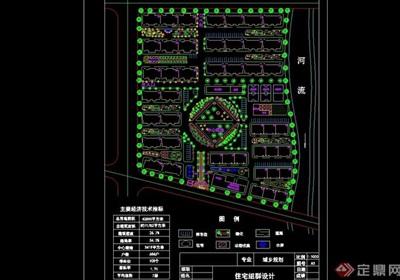 現代風格整體小區規劃cad方案
