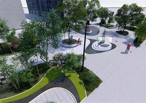 校园宿舍中心区小游园景观设计