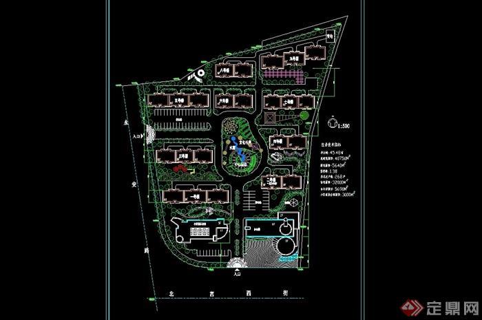 某住宅完整小區規劃設計cad方案