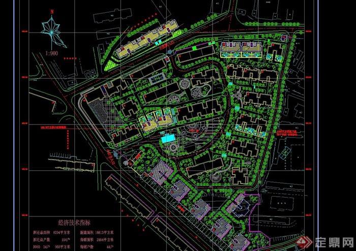 現代小區規劃完整詳細規劃設計cad方案