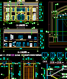小區配套服務用房詳細建筑施工圖設計(4)