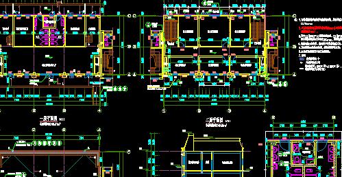 小區配套服務用房詳細建筑施工圖設計(2)