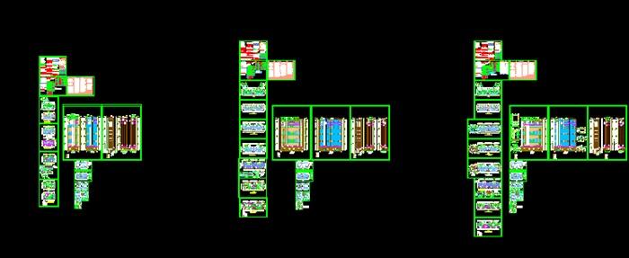 多個高層住宅詳細建筑施工圖設計cad圖(1)